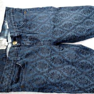 Current/Elliott Damask Print Skinny Jeans 29